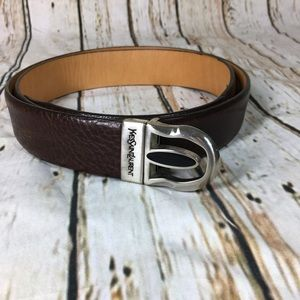 YSL Buckle Belt Leather Sz. 44